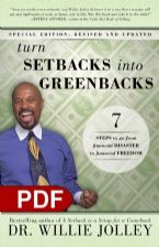 Turn Setbacks Into Greenbacks: 7 Steps to Go From Financial Disaster to Financial Freedom (e-Book PDF Download) by Willie Jollie